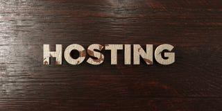Hospedar - título de madeira sujo no bordo - 3D rendeu a imagem conservada em estoque livre dos direitos ilustração stock