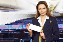 Hospedeira de ar (stewardess) fotografia de stock royalty free