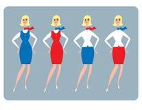 Hospedeira do Stewardess ilustração do vetor
