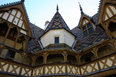Hospice in Beaune France. Ornate Hospice in Beaune France.  Now a museum Royalty Free Stock Photography