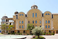 Hospice of Saint John the Baptist. Facade Hospice of St. John the Baptist in Sochi royalty free stock photo