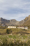 Hospice San Bartolomeo. Historic inn for hikers and travelers on the Passo Tonale Royalty Free Stock Photos