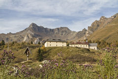 Hospice San Bartolomeo. Historic inn for hikers and travelers on the Tonale Pass Royalty Free Stock Photos