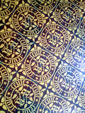Hospices of Beaune tiled floor, France Stock Photo