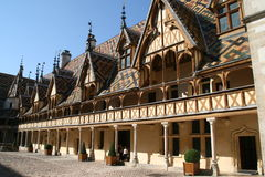 The Hospices de Beaune. A former charitable almshouse of the XVth century that is now a museum, is located in Burgundy Stock Photos