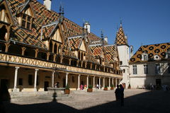 The Hospices de Beaune. A former charitable almshouse of the XVth century that is now a museum, is located in Burgundy Stock Image