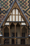 Hospices de dieu in burgundy Royalty Free Stock Images