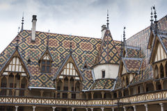 Hospices de dieu in burgundy Stock Photos