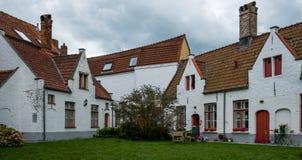 Hospices de Godshuis Spanoghe, situés dans le centre de Bruges, un site de patrimoine mondial de l'UNESCO image libre de droits