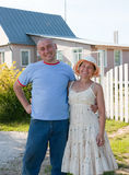 Hospitable   man and  woman Royalty Free Stock Photo