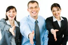 Hospitable people stock photo