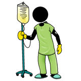 In hospital. Silhouette-man unlucky day - in hospital Stock Photography