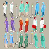 Hospital 21 People Isometric Royalty Free Stock Photography
