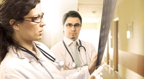 Hospital. Young doctors in the hospital Royalty Free Stock Images