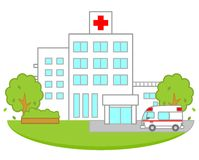 Hospital. This is an illustration of a hospital Royalty Free Stock Photo