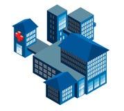 Hospital stock de ilustración