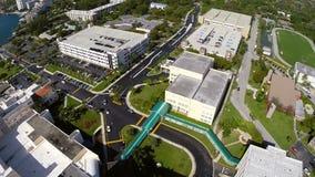 Hospital aéreo Miami de la misericordia almacen de metraje de vídeo