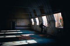 Hospital abandonado desatendido imagenes de archivo