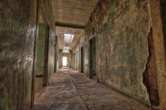 Hospital abandonado en el pueblo fantasma de Humberstone en Chile septentrional Foto de archivo libre de regalías