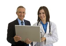Hospital Administrator and Female Doctor Royalty Free Stock Photo