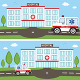 Hospital & Ambulance Car Banners Stock Images