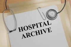 Hospital Archive - medical concept. 3D illustration of HOSPITAL ARCHIVE title on medical document Stock Photo