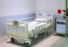Hospital bed Royalty Free Stock Photography