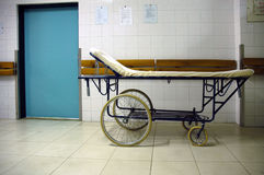 Hospital bed. For transport of patients Royalty Free Stock Images
