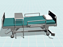 Hospital bed Stock Image