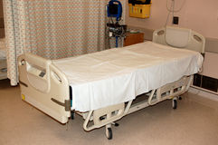 Hospital bed. Recovery bed in modern hospital.  Canada Royalty Free Stock Photo