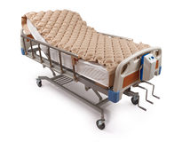 Hospital bed with air mattress - clipping path. Clean hospital bed with air mattress - clipping path Stock Photography