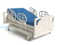 Hospital Bed. 3d illustration of a hospital bed royalty free illustration