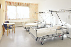 Hospital bed double room Royalty Free Stock Photo