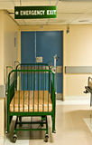 Hospital Bed Emergency Exit Royalty Free Stock Image