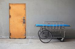Hospital bed. Empty stretcher in a hospital. hospital bed royalty free stock photography