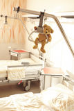 Hospital bed gallows Teddy Bear Stock Photography