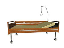 Hospital bed illustration Royalty Free Stock Photography