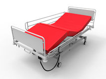 Hospital bed illustration Royalty Free Stock Images