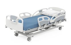 Hospital Bed Isolated. On white background. 3D render vector illustration