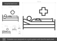 Hospital bed line icon. Stock Images