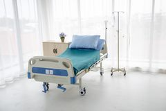 Hospital bed with no patient royalty free stock photos