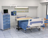 Hospital Bed, Patient Room Illustration Royalty Free Stock Photos