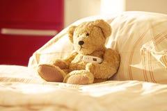 Hospital bed Teddy Bear Stock Photo