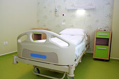 Hospital bed. A hospital bed waiting the next patient stock image