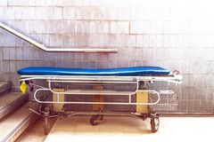Hospital bed waiting for services. with sunlight copy space royalty free stock photos