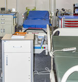 Hospital beds on sale Royalty Free Stock Image