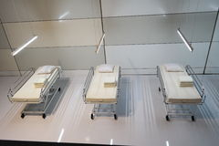 Hospital beds Stock Image