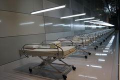 hospital beds Stock Photo