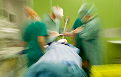 Hospital blurred doctors busy surgery Royalty Free Stock Photos