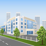 Hospital building on a city street Stock Image